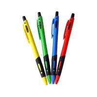 Ручка шариковая автоматическая OfficeSpace цветной корпус синяя 0,7 мм грип 1314